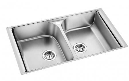 Мойка для кухни с двумя чашами Oulin S-8201
